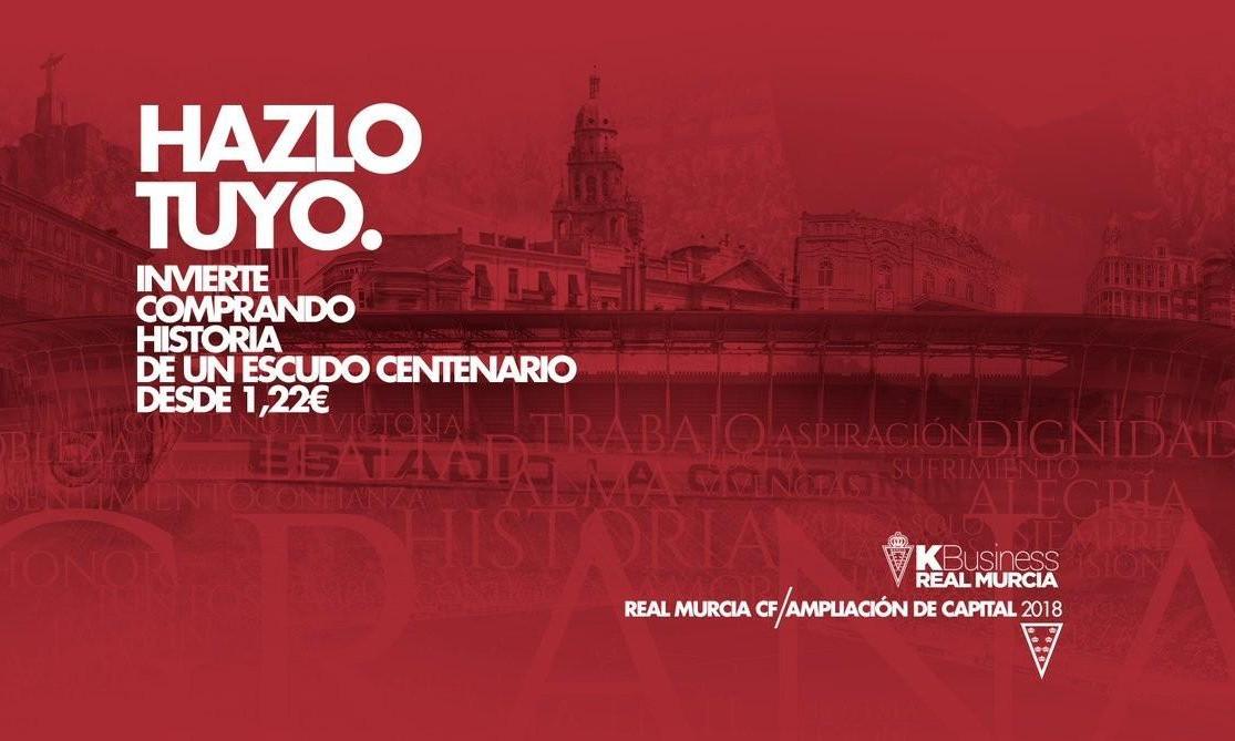 Real Murcia: 300.000€ da imprese della Regione