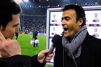 Quando Luis Enrique rise in faccia a un giornalista juventino