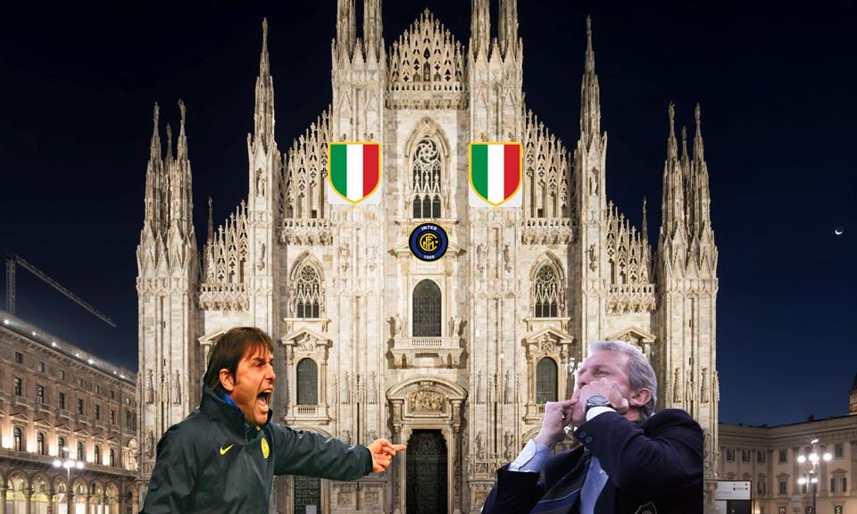 """Conte un tricolore di """"umiltà"""" con Trapattoni sullo sfondo!!"""