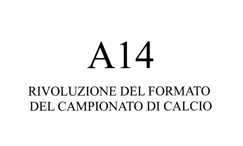 Riforma Campionato di calcio A14 (seconda parte)