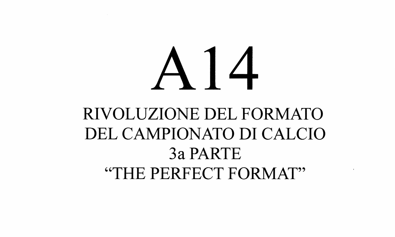 Riforma Campionato A14 (III e ultima parte)