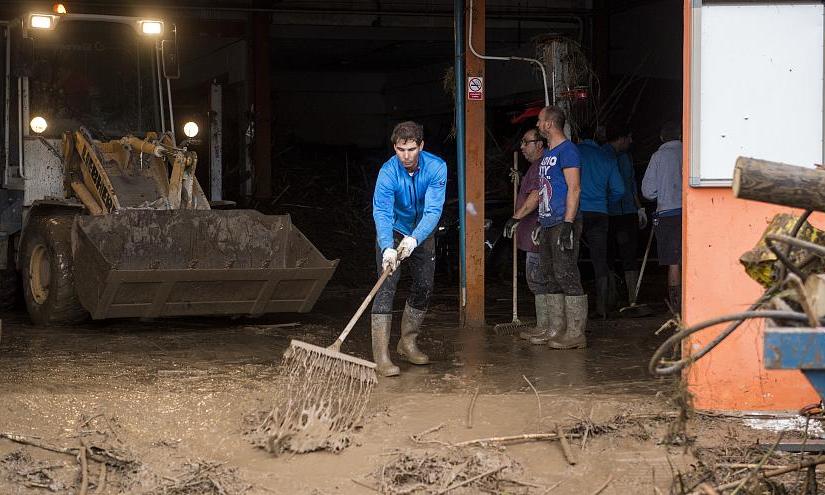 Alluvione a Maiorca, Nadal campione di solidarietà