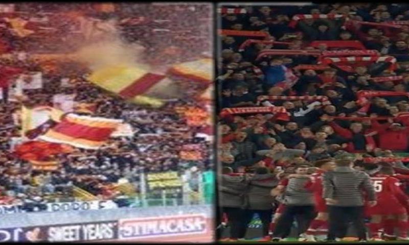 Roma e Liverpool: sfida sugli spalti
