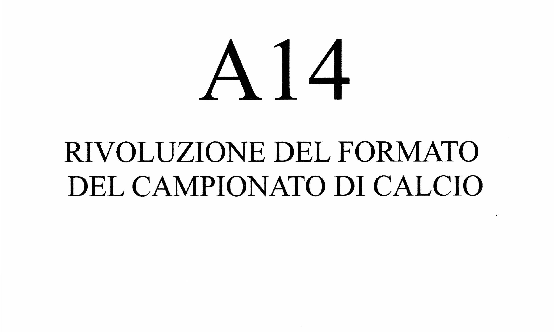 Riforma Campionato di calcio A14